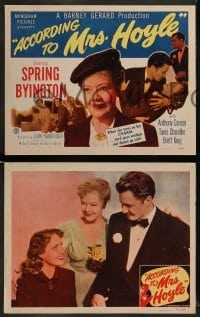 4k043 ACCORDING TO MRS HOYLE 8 LCs '51 Spring Byington, Anthony Caruso, Tanis Chandler!