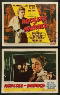 4k045 ACCUSED OF MURDER 8 LCs '57 David Brian, Vera Ralston battled for life & love!
