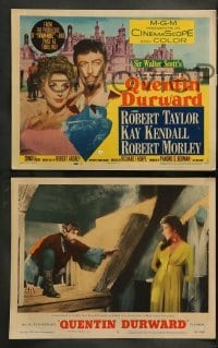 4k050 ADVENTURES OF QUENTIN DURWARD 8 LCs '55 English hero Robert Taylor romances Kay Kendall!