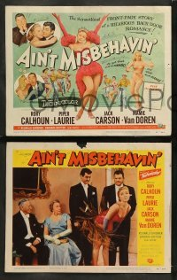 4k054 AIN'T MISBEHAVIN' 8 LCs '55 Piper Laurie & Mamie Van Doren in dance productions!
