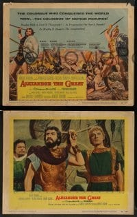 4k055 ALEXANDER THE GREAT 8 LCs '56 Richard Burton, Frederic March as Philip of Macedonia!