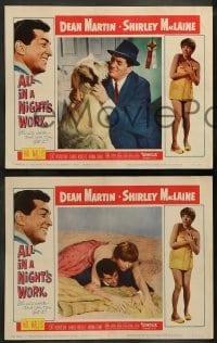 4k058 ALL IN A NIGHT'S WORK 8 LCs '61 great images of Dean Martin & sexy Shirley MacLaine!
