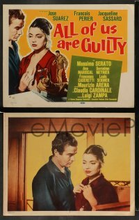 4k059 ALL OF US ARE GUILTY 8 LCs '59 Luigi Zampa's Il Magistrato, Sassard, Claudia Cardinale!