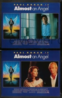 4k061 ALMOST AN ANGEL 8 LCs '90 cool images Paul Hogan, Elias Koteas, Linda Kozlowski!