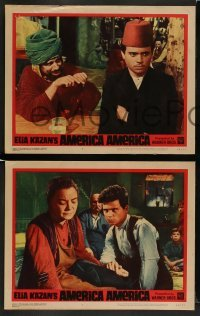 4k064 AMERICA AMERICA 8 LCs '64 Elia Kazan's biography of his Greek uncle, Stathis Giallelis!