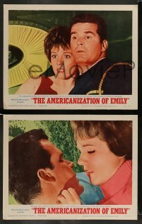4k066 AMERICANIZATION OF EMILY 8 LCs '64 James Garner, Julie Andrews, James Coburn!