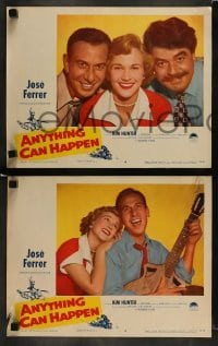 4k068 ANYTHING CAN HAPPEN 8 LCs '52 great images of Jose Ferrer, Kim Hunter, Kurt Kasznar!