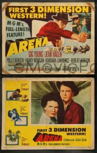 4k070 ARENA 8 3D LCs '53 Gig Young, cool cowboy western, MGM's full-length feature!