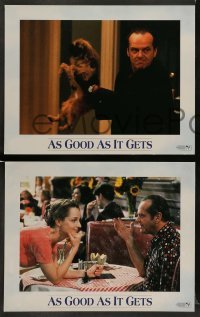 4k071 AS GOOD AS IT GETS 8 LCs '97 images of Jack Nicholson as Melvin, Helen Hunt, Greg Kinnear!