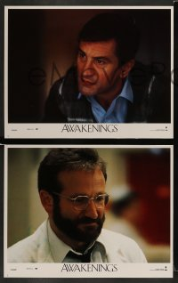 4k074 AWAKENINGS 8 LCs '90 directed by Penny Marshall, Robert De Niro & Robin Williams!