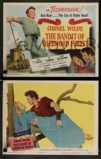 4k078 BANDIT OF SHERWOOD FOREST 8 LCs '45 Anita Louise, Jill Esmond & swashbuckler Cornel Wilde!