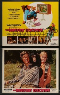 4k025 BAREFOOT EXECUTIVE 9 LCs '71 Disney, Kurt Russell, wacky chimp gone bananas!
