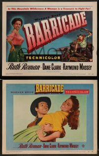 4k080 BARRICADE 8 LCs '50 Jack London, Ruth Roman is a treasure to fight for!