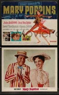 4k030 MARY POPPINS 9 LCs R73 Julie Andrews & Dick Van Dyke in Walt Disney's musical classic!