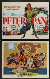 4k033 PETER PAN 9 LCs R69 Walt Disney animated cartoon fantasy classic, great full-length art!
