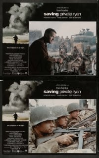4k019 SAVING PRIVATE RYAN 12 LCs '98 Steven Spielberg, Tom Hanks, Tom Sizemore, Matt Damon, Davies!