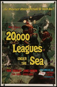4t004 20,000 LEAGUES UNDER THE SEA 1sh R71 Jules Verne classic, wonderful art of deep sea divers!