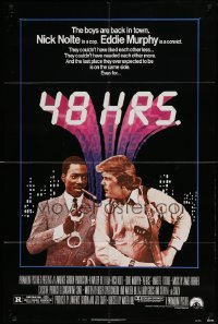 4t012 48 HRS. 1sh '82 Nick Nolte is a cop who hates Eddie Murphy who is a convict!