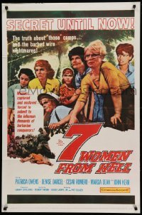4t017 7 WOMEN FROM HELL 1sh '61 Patricia Owens is driven to shame in a World War II prison camp!