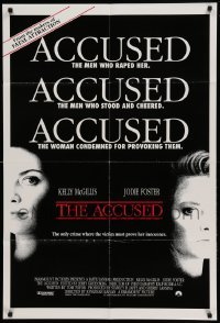 4t020 ACCUSED int'l 1sh '88 Jodie Foster, Kelly McGillis, the case that shocked a nation!