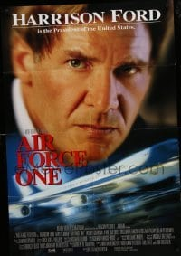 4t028 AIR FORCE ONE int'l DS 1sh '97 President Harrison Ford, image of the Presidential plane!