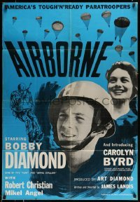 4t030 AIRBORNE 1sh '62 Bobby Diamond, Carolyn Byrd, paratroopers!