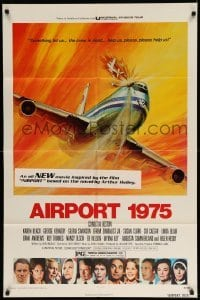 4t033 AIRPORT 1975 1sh '74 Charlton Heston, Karen Black, G. Akimoto art!