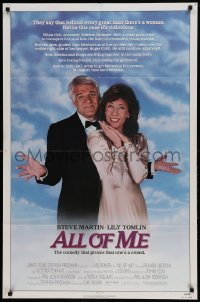 4t037 ALL OF ME 1sh '84 wacky Steve Martin, Lily Tomlin, the comedy that proves one's a crowd!