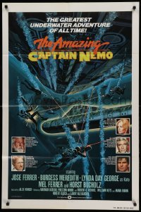 4t042 AMAZING CAPTAIN NEMO int'l 1sh '78 sci-fi art of divers in the greatest underwater adventure!