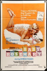 4t061 BABY ROSEMARY 1sh '76 there's NOTHING she wouldn't do to fulfill her fantasies, parody title