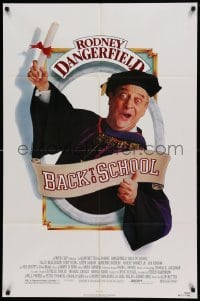 4t064 BACK TO SCHOOL 1sh '86 Rodney Dangerfield goes to college with his son, great image!
