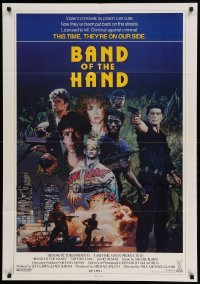 4t068 BAND OF THE HAND int'l 1sh '86 Paul Michael Glaser, completely different art by Konkoly!