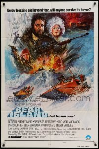 4t072 BEAR ISLAND style B int'l 1sh '80 Donald Sutherland & Vanessa Redgrave, Alistair MacLean!
