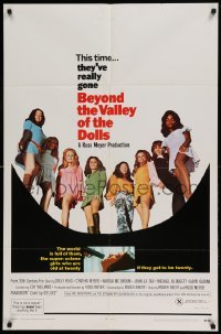4t080 BEYOND THE VALLEY OF THE DOLLS 1sh '70 Russ Meyer's girls who are old at twenty, Roger Ebert