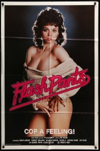 4t323 FLASH PANTS 1sh '83 sexy barely-dressed Tanya Lawson, x-rated Flashdance parody!