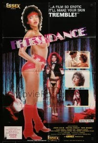4t328 FLESHDANCE video/theatrical 24x36 1sh '83 makes your skin tremble!