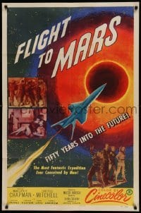 4t330 FLIGHT TO MARS 1sh '51 the most fantastic expedition ever conceived by man in the future!