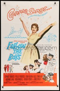 4t331 FOLLOW THE BOYS 1sh '63 Connie Francis sings and the whole Navy fleet swings!
