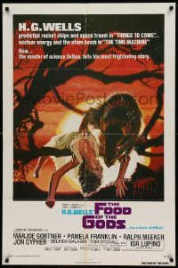 4t332 FOOD OF THE GODS 1sh '76 artwork of giant rat feasting on dead girl by Drew Struzan!