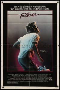 4t335 FOOTLOOSE 1sh '84 competitive dancer Kevin Bacon has the music on his side!