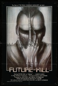 4t354 FUTURE-KILL 1sh '84 Edwin Neal, really cool science fiction artwork by H.R. Giger!