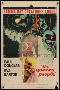 4t357 GAMMA PEOPLE 1sh '56 G-gun paralyzes nation, great image of hypnotized Gamma people!