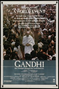 4t358 GANDHI int'l 1sh '82 Ben Kingsley as The Mahatma, directed by Richard Attenborough!