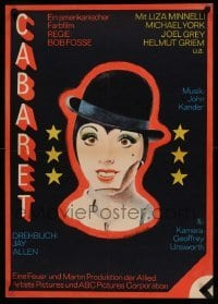 4y073 CABARET East German 23x32 '75 wild different art of Liza Minnelli, directed by Bob Fosse!