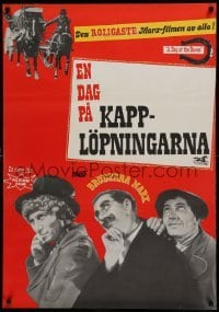 4y051 DAY AT THE RACES Swedish R64 completely different images of the Marx Brothers, horse racing!