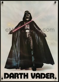 4z007 DARTH VADER 20x28 commercial poster '77 Sith Lord w/ lightsaber activated by Bob Seidemann!
