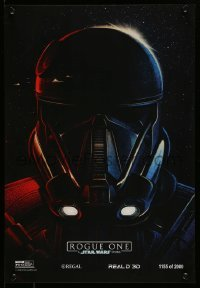 4z013 ROGUE ONE #1155/2000 mini poster '16 A Star Wars Story, incredible art of Stormtrooper!