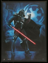 4z039 STAR WARS CELEBRATION IV signed 18x24 art print '07 by Mitchell, Sith Lord Darth Vader!