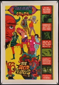 5a003 ACID EATERS linen 1sh '67 nude beach parties, LSD orgies, the Devil & more, psychedelic art!