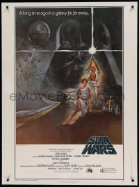 5b065 STAR WARS linen style A 30x40 '77 George Lucas classic sci-fi epic, iconic art by Tom Jung!